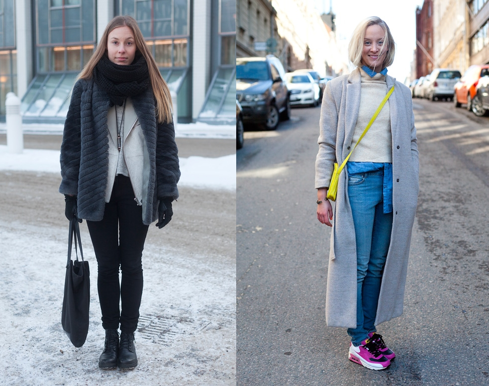 Left: Cheap Monday jeans. Right: Weekday coat. Both images by Hel-Looks.com