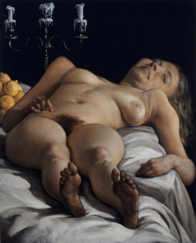 John Currin - 'Odalisque', 2001